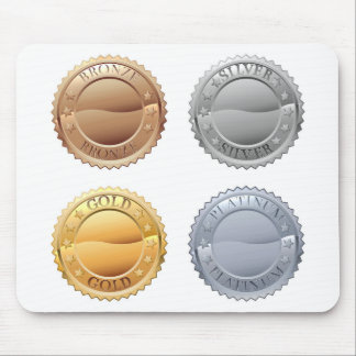 Medals Icon Set Mouse Pad