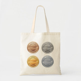 Medals Icon Set Tote Bag