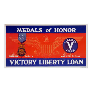 Medals of honor - Victory Liberty Loan Poster