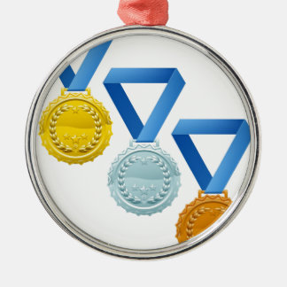 Medals Round Metal Christmas Ornament