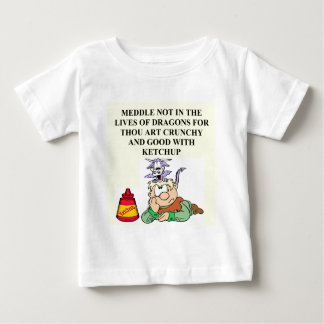 meddle not with fantasy dragons proverb baby T-Shirt