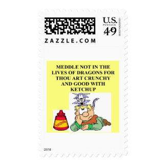 meddle not with fantasy dragons proverb postage