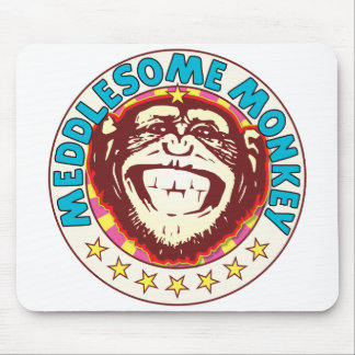 Meddlesome Monkey Mouse Pad