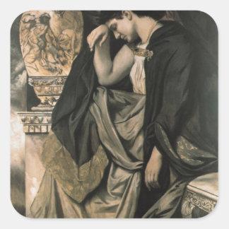 Medea, 1873 square sticker