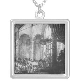 Medea, or the Marriage of Jason and Creusa, 1648 Square Pendant Necklace