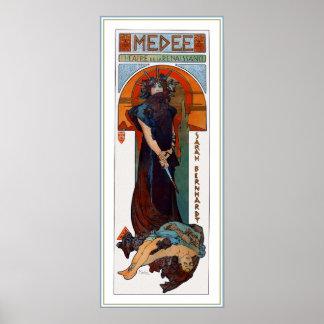 Medee (Medea) - Mucha - anuncio del teatro de Nouv Posters