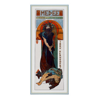 Medee (Medea) - Mucha - Art Nouveau Theater ad Poster