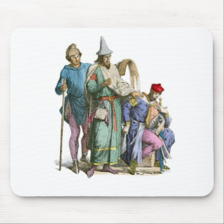Medeival Jew and Knight - Period Costumes Mouse Pad