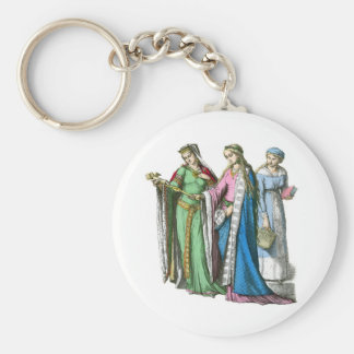 Medeival noble women - Period Costumes Keychain