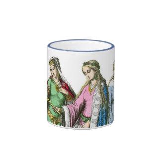 Medeival noble women - Period Costumes Ringer Mug