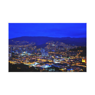 Medellin, Colombia at Night Canvas Print