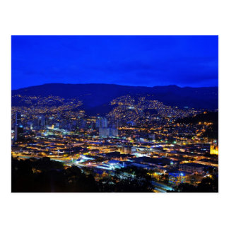 Medellin, Colombia at night Postcard