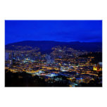 Medellin, Colombia at Night Poster
