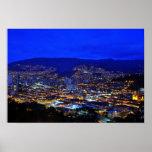 Medellin, Colombia en la noche Posters