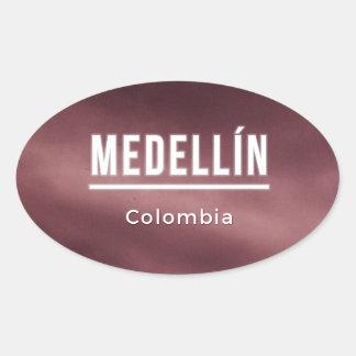 Medellin Colombia Oval Sticker