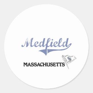Medfield Massachusetts City Classic Sticker
