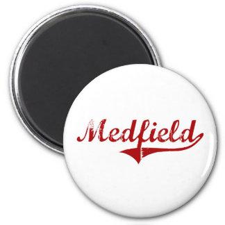 Medfield Massachusetts Classic Design Magnet