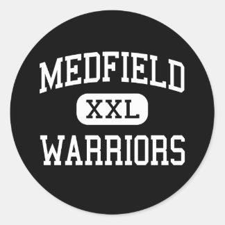 Medfield - Warriors - High - Medfield Classic Round Sticker