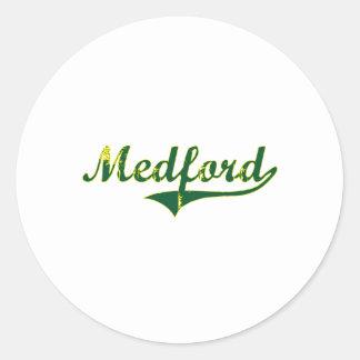 Medford Oregon City Classic Round Stickers