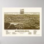 Medford, WI Panoramic Map - 1885 Print