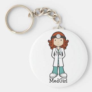 MedGirl Llavero Redondo Tipo Pin