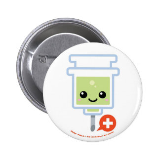 Medi Pals Needle Pinback Button