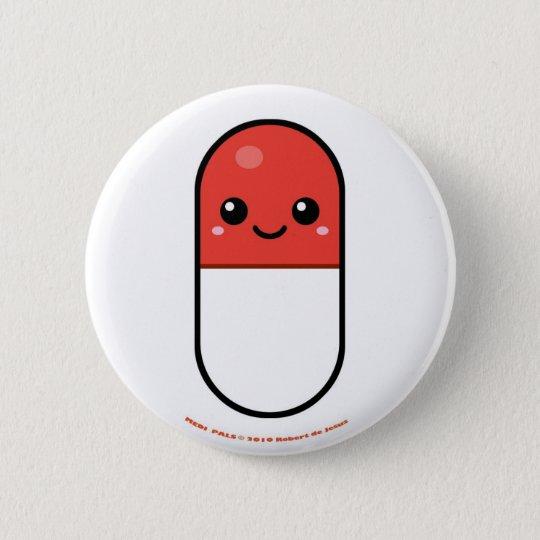 Medi Pals Pill Pinback Button