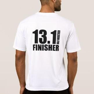 Media acabadora del maratón - negro playera