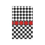 Media banda blanca negra elegante del rojo de los  cuadernos