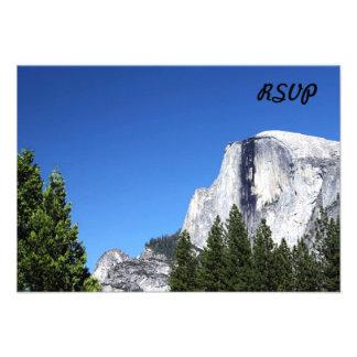 Media bóveda de Yosemite Invitaciones Personales