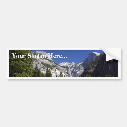 Media bóveda en el parque nacional de Yosemite Pegatina Para Auto