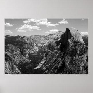 Media bóveda, parque nacional de Yosemite Póster
