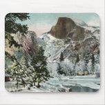 Media bóveda, Yosemite en el invierno Mousepad Alfombrillas De Ratón