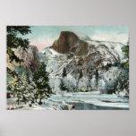 Media bóveda, Yosemite en invierno Poster