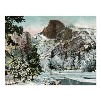 Media bóveda, Yosemite en postal del vintage del i