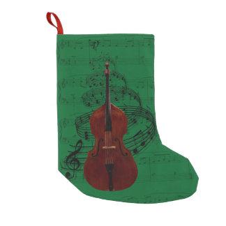 Media de la música del bajo doble calcetín de navidad pequeño