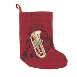 Media de la música del Euphonium Calcetín De Navidad Pequeño