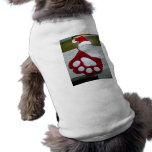Media de la pata del perro del navidad camisa de mascota