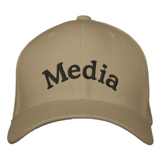 Media Embroidered Baseball Hat