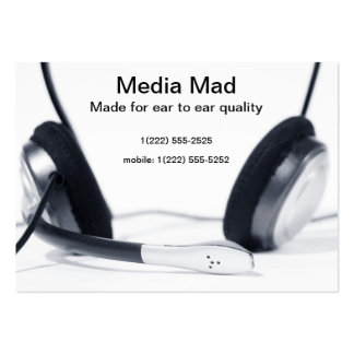 Media entertainment; stereo headset business card