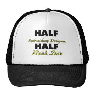 Media estrella del rock del medio diseñador del bo gorras