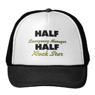 Media estrella del rock del medio encargado de la  gorras