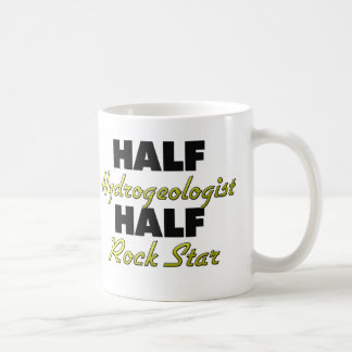 Media estrella del rock del medio hidrogeólogo taza de café
