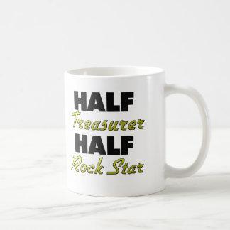 Media estrella del rock del medio tesorero taza de café