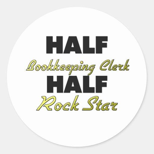 Media estrella del rock del medio vendedor de la pegatina redonda
