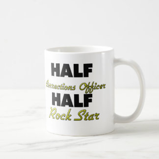 Media estrella del rock del oficial de correccione taza de café