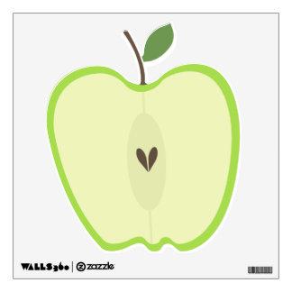 Media etiqueta verde de la pared de Apple Vinilo Decorativo