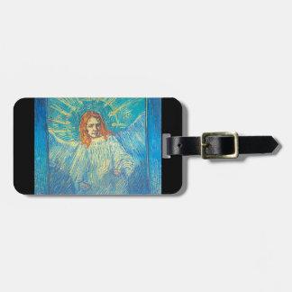 Media figura de un ángel etiquetas maletas