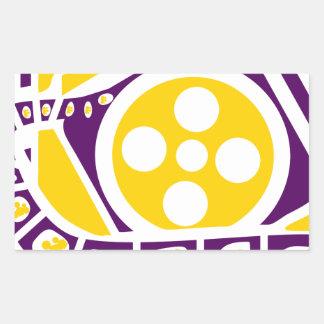 Media Film Reel Rectangular Sticker