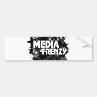 Media Frenzy Bumper Sticker